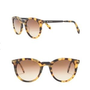Fossil 49mm Round Sunglasses